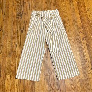 J Crew Paper-bag cotton wide pants size 6